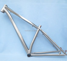 Customized titanium 650B MTB frame helix tapered headtube 27.5er XTR disc brake AIR fork external cable routing bike frame