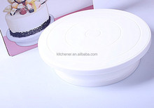 high quality plastic Rotating Icing Revolving cake turntable for cakes decorating cake stand
