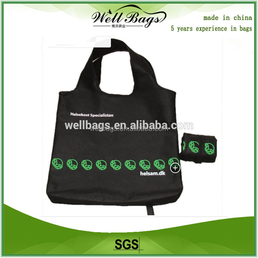 wholesale tote recycle foldable polyester shopping bag