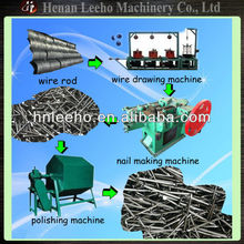 leeho brand carbon steel wire sharpening nail making machine