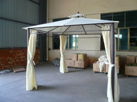 outdoor patio garden double roof metal pergola steel frame gazebo tent 3x3