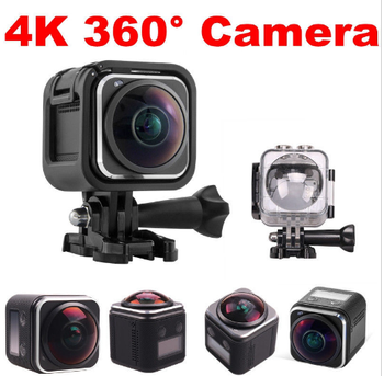 4K HD 360 Panoramic Degree Camera 1440P@30fps 16MP DV Action Camera Waterproof