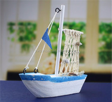 wooden miniature craft sail boat