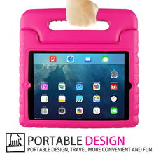 kids protective stand tablet pc rubber case for apple ipad air