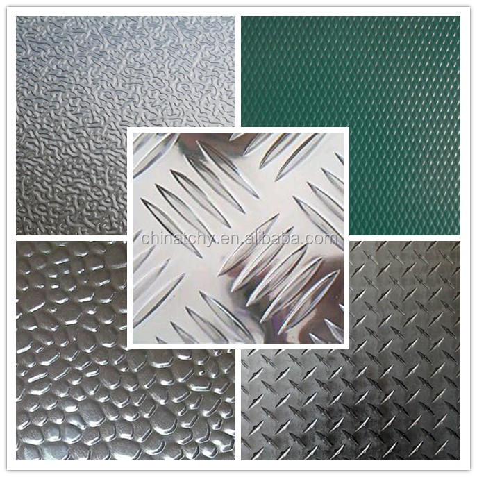 Diamond pattern floor materials embossed aluminum checkered plate sheet