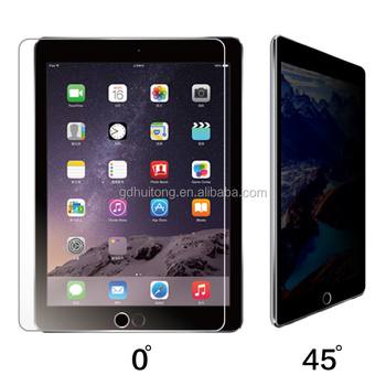 Factory supply screen protector, privacy tempered glass screen protector for ipad air