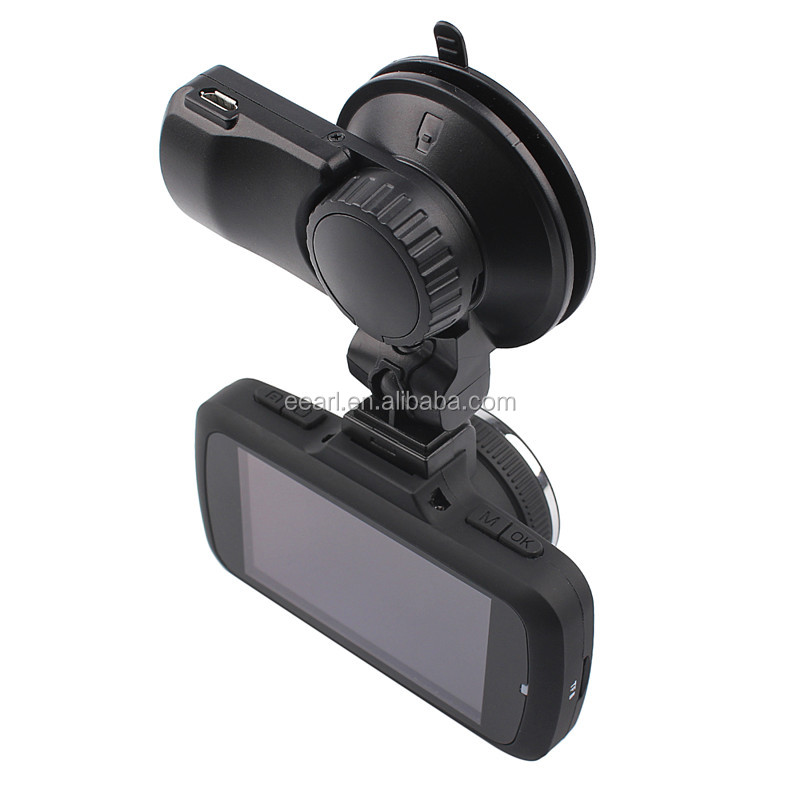 Ambarella 2.7inch HD 1296P vehicle blackbox dvr user manual recorder with gps