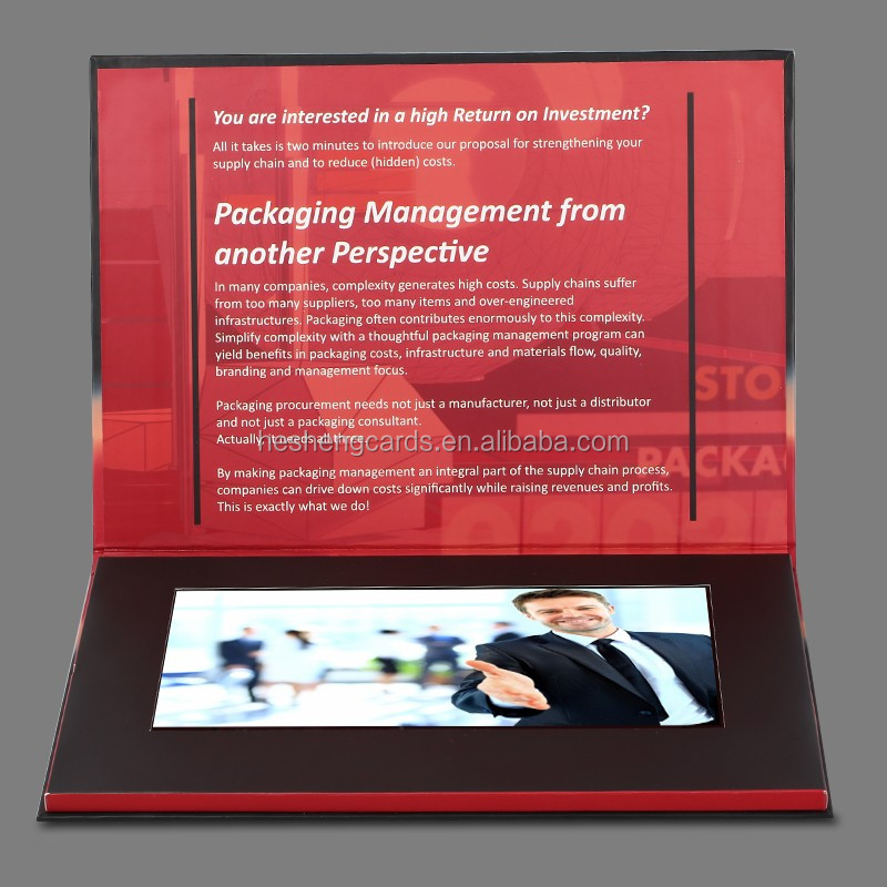 "Business card with lcd 4.3"",video brochure greeting card"