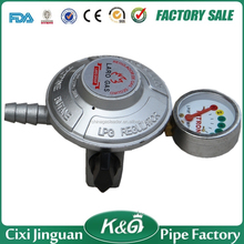 Factory Direct Supply Malaysia 20mm Inlet Silver Safety Device LPG Gas Regulator Meter Propane Gas Regulator LPG Gas Regulator