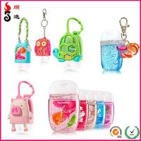 Newest bath and body works new silicone hand sanitizer cover/ holder made in China