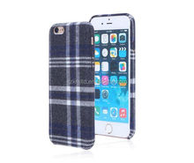Fashion England Plaid Style Leather Skin Hard PC Mobile Phone Case for phone