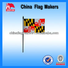 Custom Stick Flags With Maryland Country Logo Printing