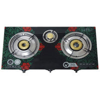 JP-GCG303T China Hot New Tempered Glass Top 3 Burner Gas Cooking Stove