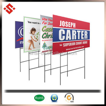 2014 plastic corrugated sign board material, hollow pp plastic sign