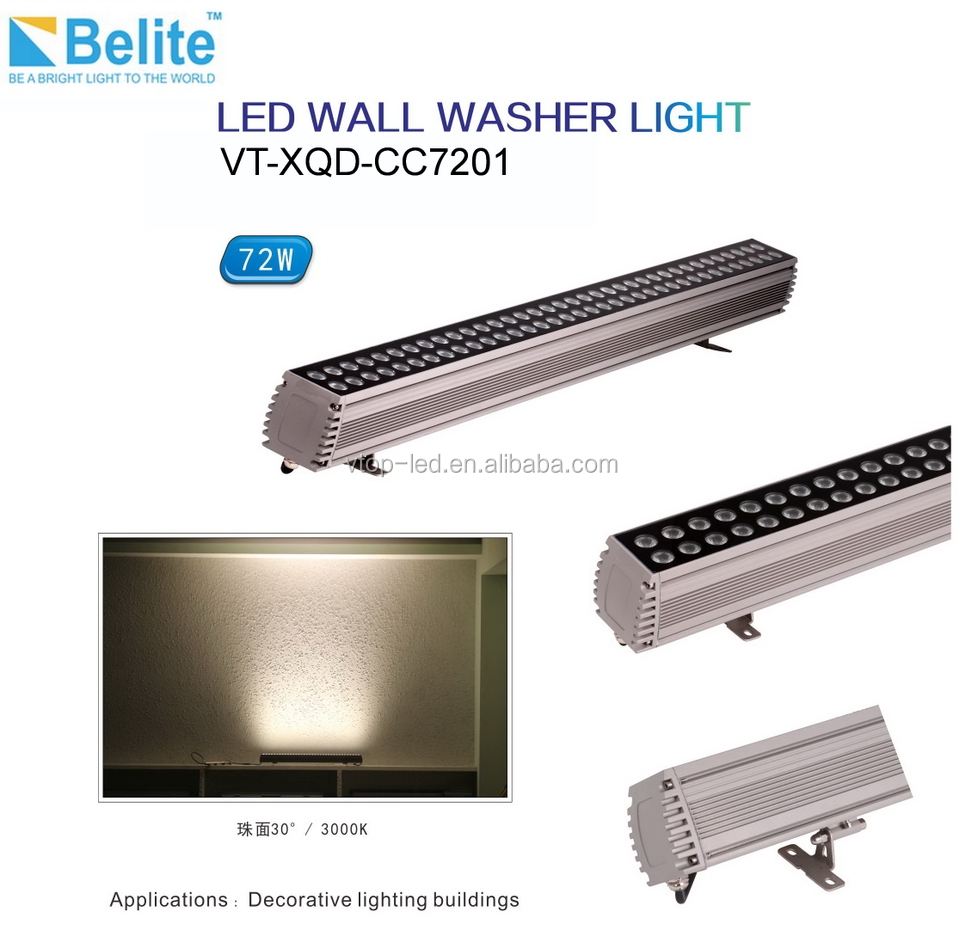 IP65 DMX RGB DC24V 1000mm Waterproof 72w outdoor led wall washer
