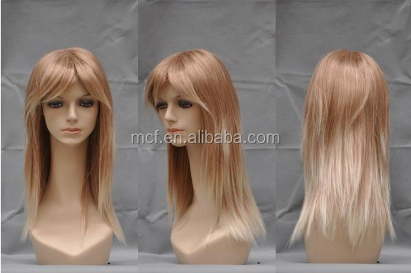Wholesale daily ladies natural brown synthetic fashion hair wig FW-0030