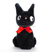 direct manufactuer plush toys black cat,custom plush toys