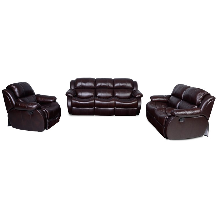 Modern living room furniture black red trend massage leather sectional sofa