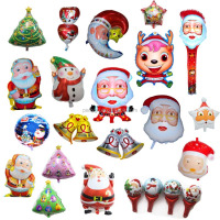 2015 new arrival hot sale all sets christmas foil balloons for Christmas party supplies
