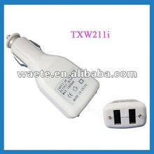 Two USB Car Charger for Bluetooth/E-text reader