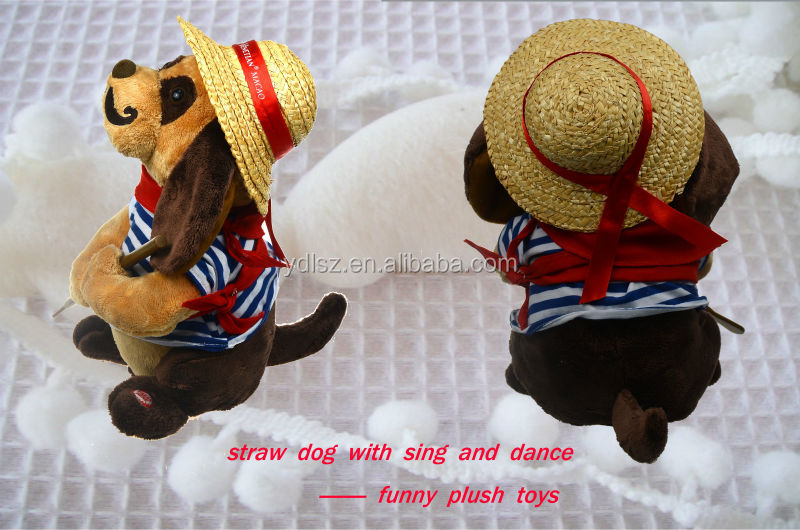 2014 electronic dancing plush dog doll toy with music