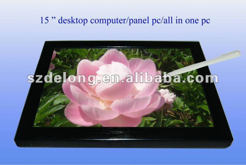 "15"" advertising pc desktop computer touch panel all in one pc(DL150PC)"