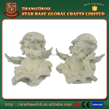 Decorative handmade polyresin cupid angel figurine
