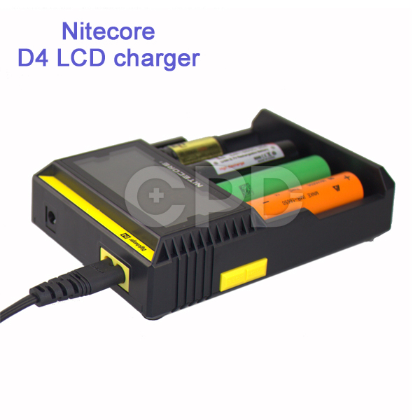 Original Nitecore D4 LCD Intelligent Circuitry Global Insurance 18650 Batteries Charger Car Charger