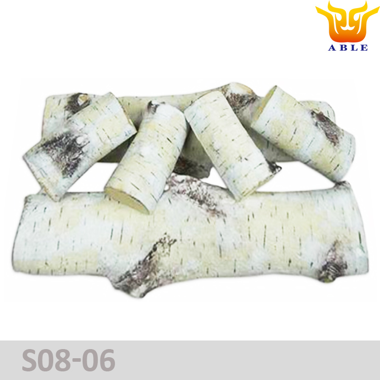 Ceramic gas logs Birch Log