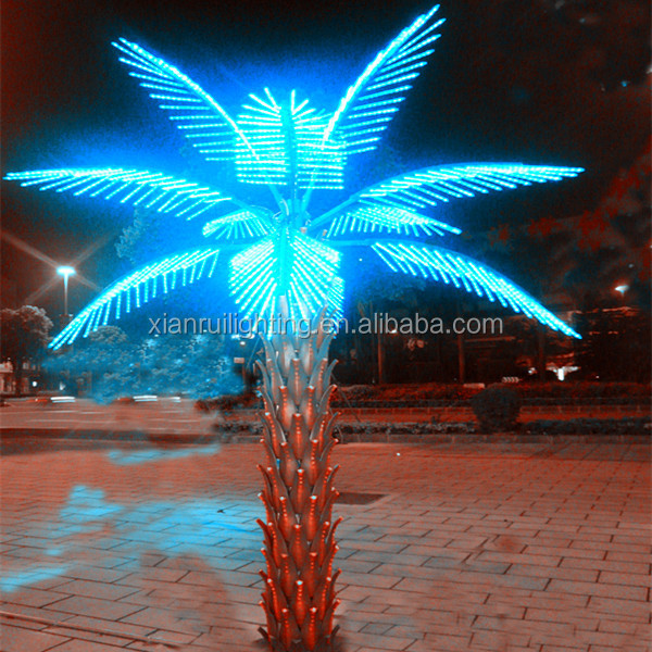 Beautiful foldable\/portable palm tree lamp outdoor