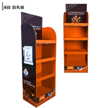 Custom Coffee Beans Retail Stand, Cardboard Floor Display Stand