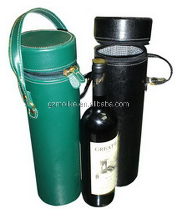 New design updated 1 bottle faux leather wine carrier
