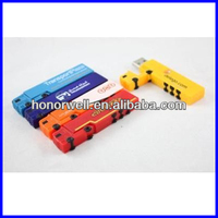 customized long truck USB flash drive plastic and aluminum truck shape USB with any logo