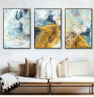 3 Panels Modern Abstract Canvas Art Wall Oil Painting For Living Room