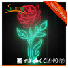 2016 newest Night Rose Flower shining New design LED Street motif light of aluminum frame (CE/RoHS approval)
