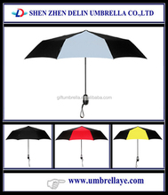 All two colors beautiful folding umbrella, 1 pound store item