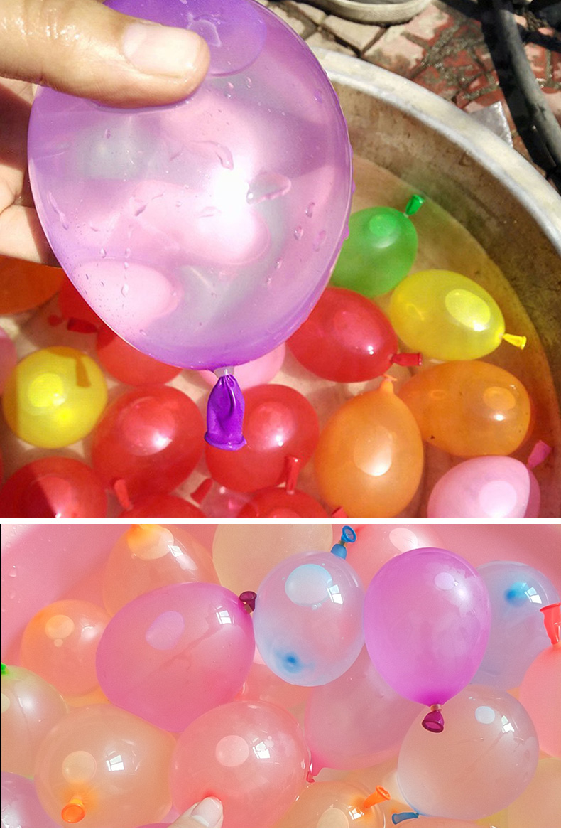 Factory supply biodegradable selfsealing fast inject latex water balloons for summer water games