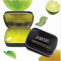 0.4g uncoated sugar free sour lemon mints packaged in tin box