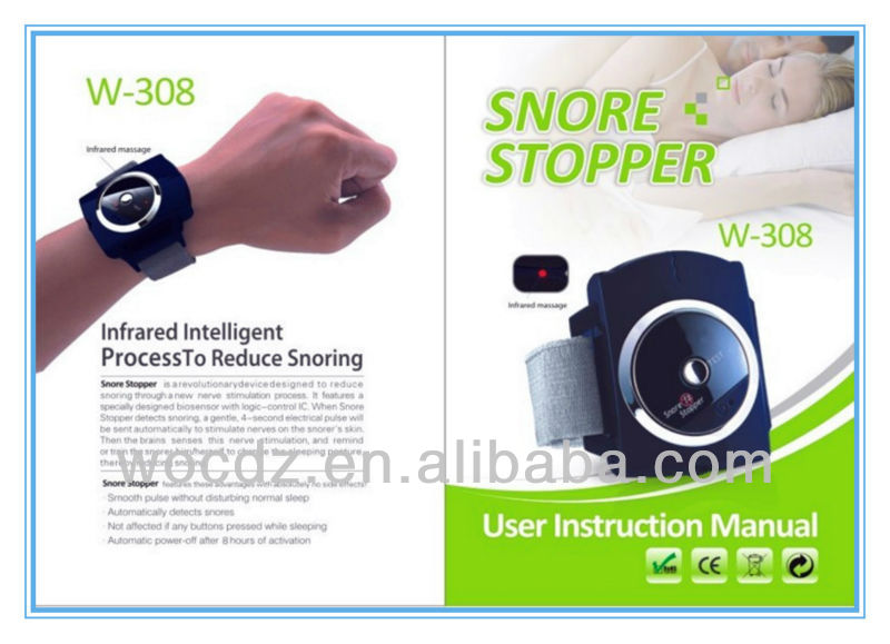 Hot Anti-Snore Apparatus/Electronic Snore Stopper Device/New Innovative Health Bracelet Snore Stopper