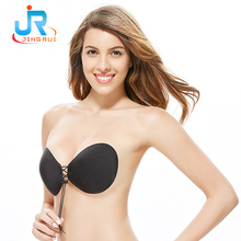Women Sexy Stylish Seamless Bra Strapless Sticky Push Up Silicone Bra
