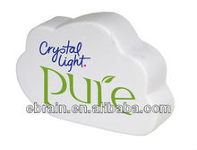 PU stress white cloud shaped reliever