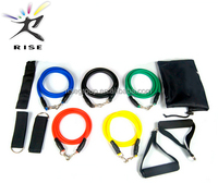 Natural color latex gym fitness thera rubber resistance tube