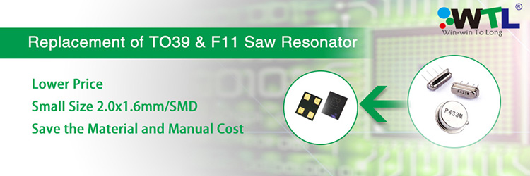 WTL 5.0x5.0mm SMD-8 Saw Resonator 868.30MHz