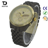 Hot oil alloy band ladies rolexable ladies gold fancy wrist watch