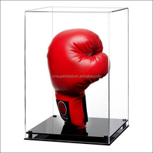 Deluxe single acrylic vertical boxing glove display case for retail stores