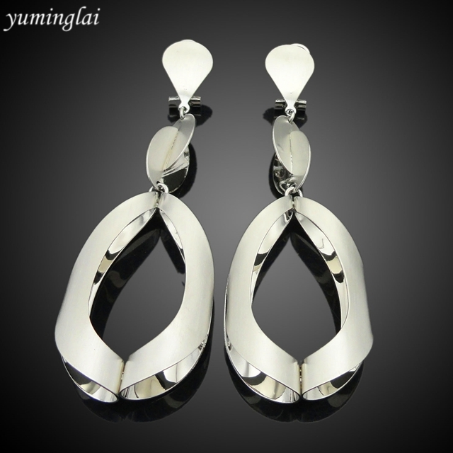 High quality drop earrings Wedding eardrop gold plated drop earrings