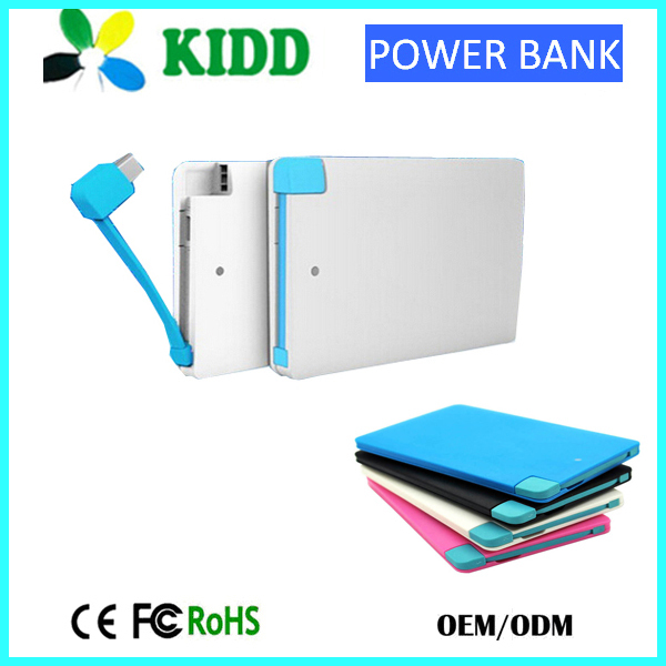 li-polymer SLIM power bank 5000mah with LED indicator