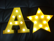 marquee LED letter light box punching letters for high quality wedding decoration lighted up vintage marquee letters