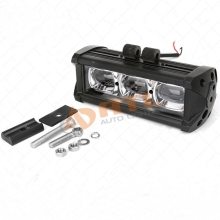 ATL single row straing 30w led light bar 4x4 with 6d optics lens for offroad cars