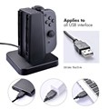 4in1 Slide-in Designed Charge Stand For Nintendo Switch Joy-con Controllers, All-in-one Charging And Storing Dock